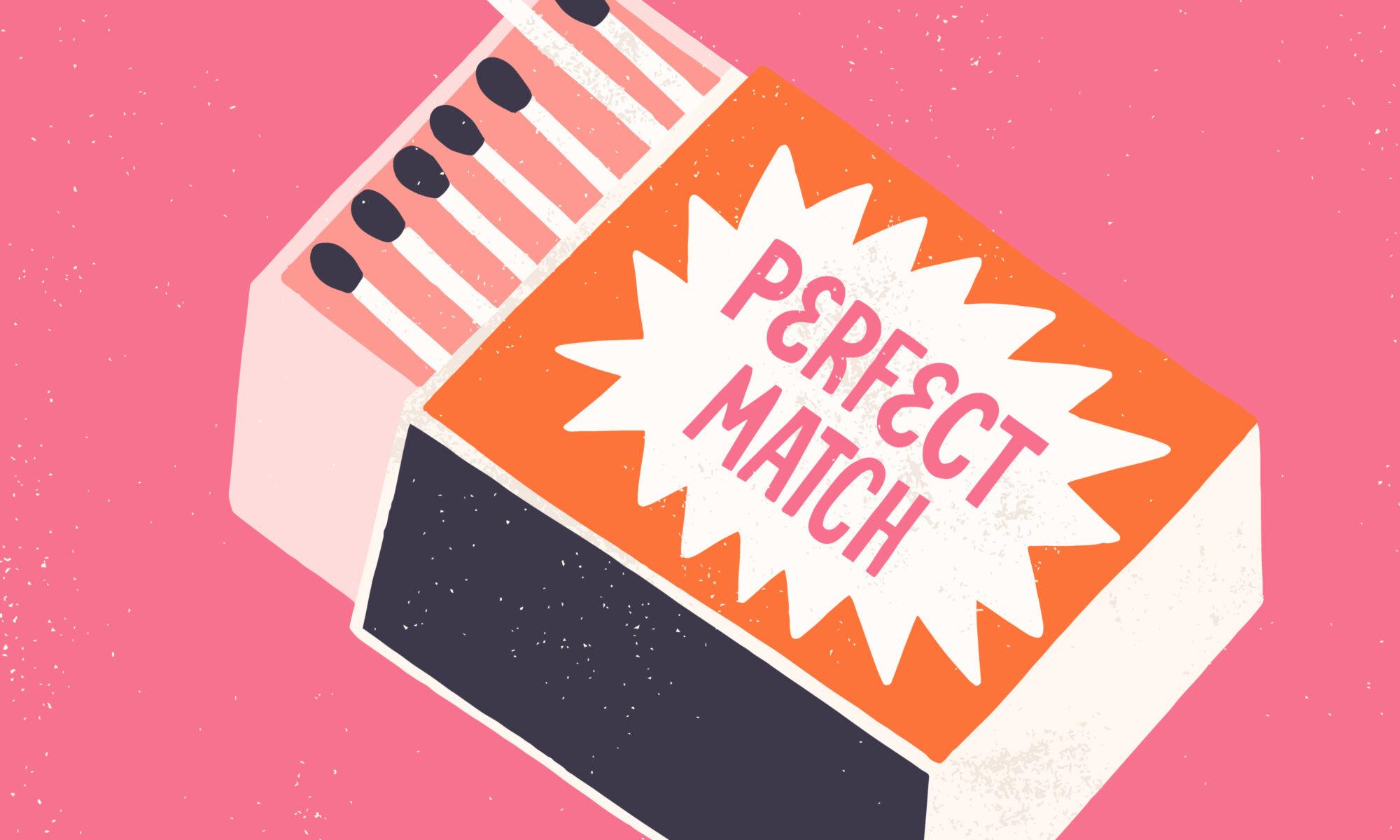 Streichholzschachtel perfect match
