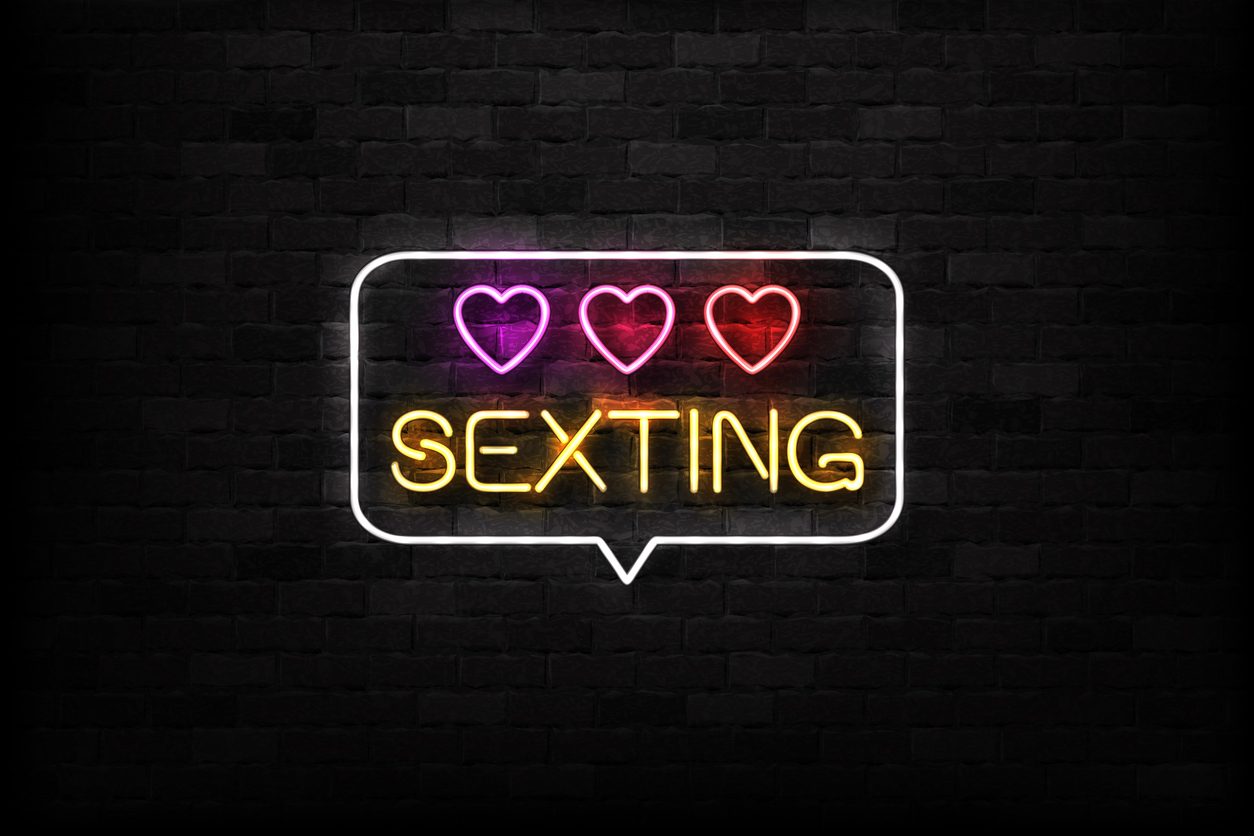 Neonreklame Sexting
