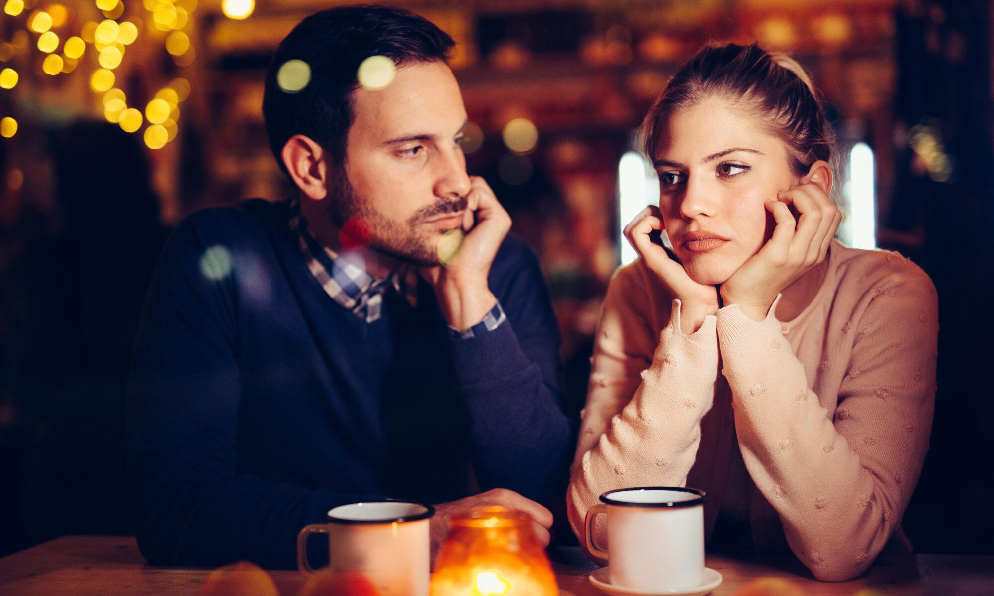 Junges Paar mit Problemen