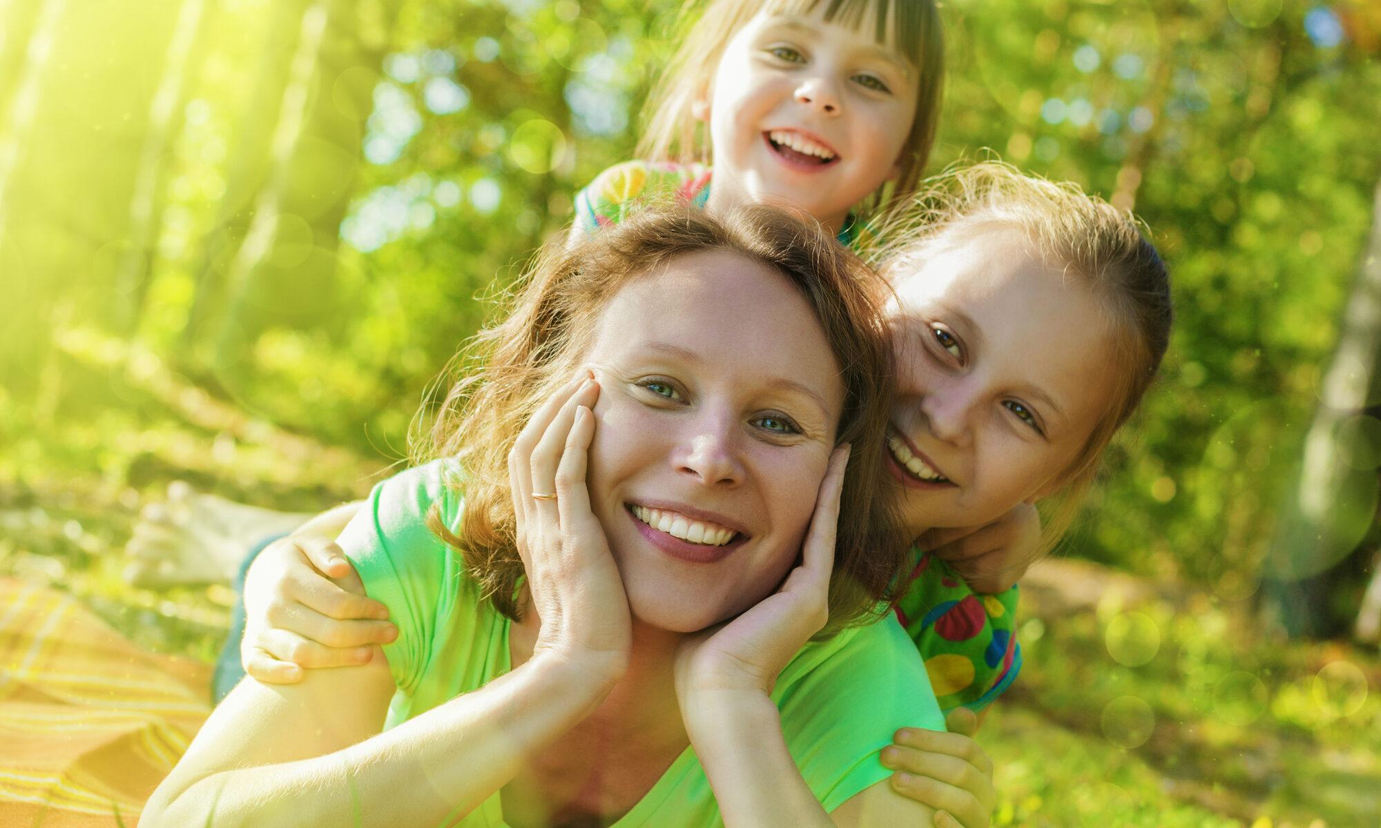 Single-Mom mit Kindern